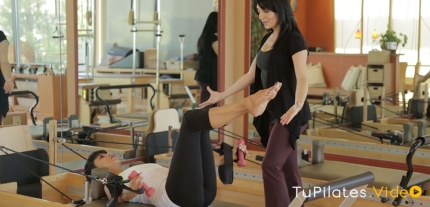 Eva Texido, Reformer Contemporáneo con pesas en Tu Pilates Video